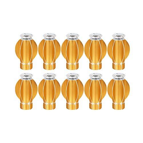 Qingsb Golden 10 Sets Gordijnstang Romeinse staaf Decoratie Hoofdstang Plug Aluminiumlegering Bloemhoofd Decoratie Gordijnroede, goud