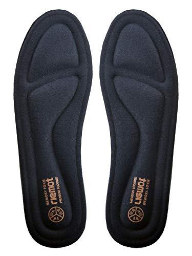 riemot Plantillas Memory Foam para Zapatos de Hombre y Mujer, Plantillas para Zapatillas Botas, Cómodas y Amortiguación para Trabajo, Deportes, Caminar, Senderismo Azul Armada EU 37