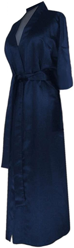 Navy Satin Plus Size Some reservation Ultra-Cheap Deals Robe Supersize Women's