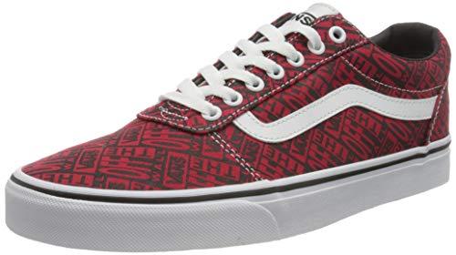 Vans Ward Canvas, Sneaker Hombre, Logotipo de Otw Rojo y Blanco, 43 EU