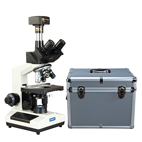 OMAX 40X-2000X USB3 18MP Digital Darkfield Trinocular LED Lab Microscope with Aluminum Carrying Case