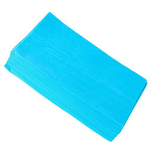 Healifty Lenzuolo monouso 10 pezzi copriletto in tessuto non tessuto copriletto monouso lettino da massaggio per spa hotel tatuaggio salone di bellezza (blu)
