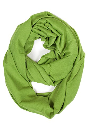 ScarvesMe Fashion Jersey Solid Color Soft Infinity Scarf (Lime)