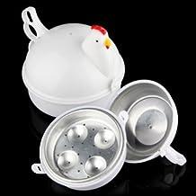 Tanzimarket - Microwave 4 Eggs Boiler Cooker Poacher Boiled Chicken Shaped
