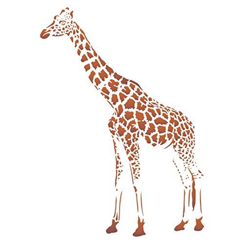 Giraffen-Schablone, 25,5 x 35,5 cm (M) – wiederverwendbare afrikanische Tiere, Wildtiere, Schablonen zum Malen