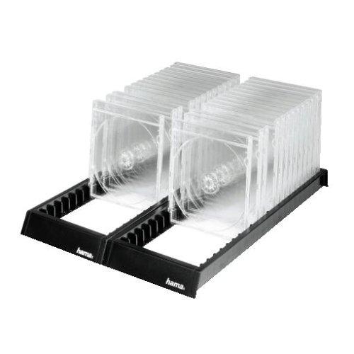 Hama CD Ständer Archivierungssystem (für 44 CD-Leerhüllen, CD Rack zur Aufbewahrung, Organizer rutschfest) schwarz
