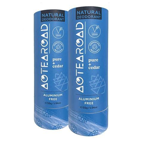 Aotearoad, Desodorante natural eficaz, puro y cedro. Vegano, Eco Embalaje, hecho a mano en NZ