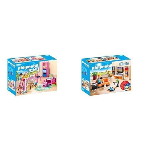 Playmobil 9270 - Fröhliches Kinderzimmer &  9267 - Wohnzimmer