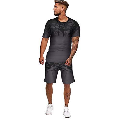 SINGOing Joggingset Herren Sportswear-Set Trainingskleidung Baumwolle Fitness Slim Fit Joggers Streetwear