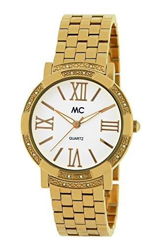 MC Timetrend Damen Analog Quarz Uhr mit Messing Armband 51511