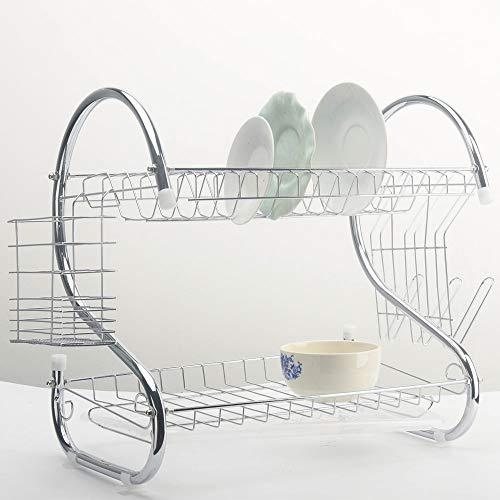 anruo Keuken afdruiprek 2-laags mand verzinkt huishoudtoilet groot aanrecht afdruiprek afvoerrek