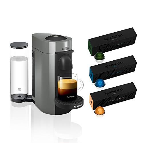 Nespresso VertuoPlus Coffee and Espresso Machine Bundle by De