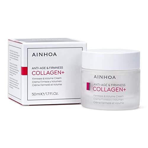 AINHOA Cosmetics – COLLAGEN+ Crema Firmeza y Volumen 50 ml – Tratamiento Facial Antiedad, Reafirmante e Hidratante con Colágeno marino para Mujer - Día y Noche- Calidad Profesional