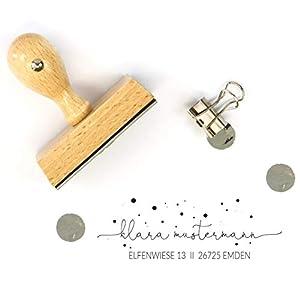 """Adressstempel personalisiert Motiv""""Emden"""" // individueller Stempel zum selbst gestalten // hochwertiger Namensstempel mit Holzgriff // handmade in Deutschland // mit Wunschtext bestellen"""