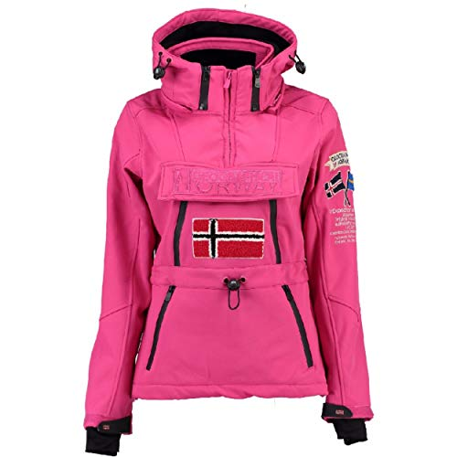 Geographical Norway Storm Cuffs Embro & Parches - Chaqueta con capucha para mujer (tejido Softshell)