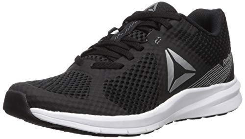 Reebok Women's Endless Road Running Shoe, Black/True Grey/White/Pure Silver, 7.5 M US