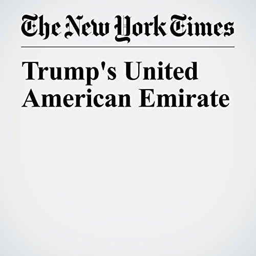 Trump's United American Emirate copertina