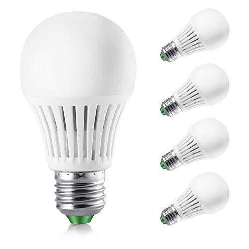 Elrigs LED Lampe dimmbar, 7W ersetzt 60W, E27, Kaltweiß(6000 Kelvin), 4er Pack