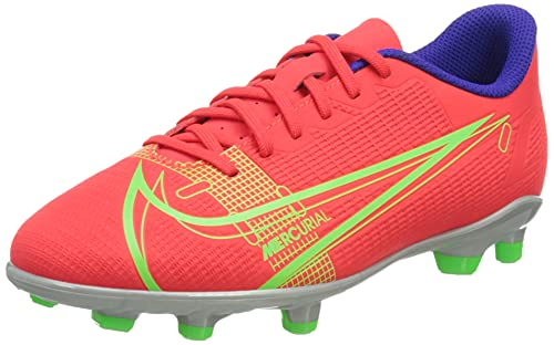 Nike JR Vapor 14 Club FG/MG, Scarpe da Calcio, BRT Crimson/Mtlc Silver-Indigo Burst-White-Rage Green, 37.5 EU