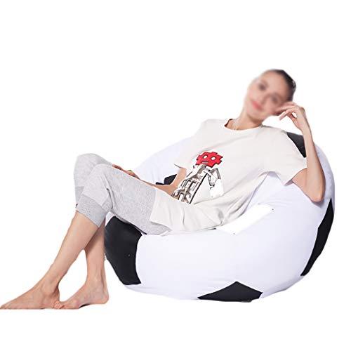 Chaises Longues canapé Chaise Longue canapé de Loisirs Bean Bag Dossier Balcon Chambre à Coucher Loisirs Portatif 6 Couleurs Φ50cm (Couleur : F)
