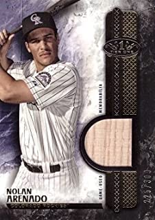 2016 Topps Tier One Relics #T1R-NA Nolan Arenado Game Used Bat Baseball Card – Only 399 made!
