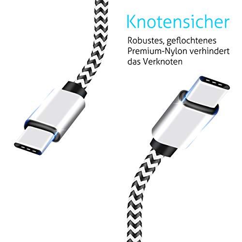 Ailun USB C Kabel [3 Stück 3m] USB C auf USB C Ladekabel, PD Datenkabel Fast Charge Schnellladekabel für USB-C Geräte für Samsung S20/S10/S9, Huawei P40/P30, Switch, iPad Pro2020/2018, MacBook Pro usw