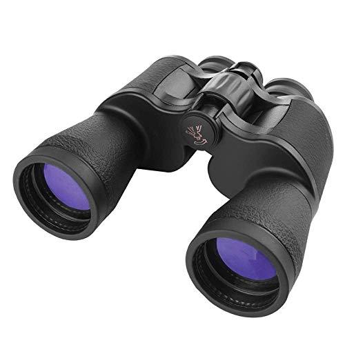 HXZB Jumelles 20x50 Haute définition Night Vision Concert Voir Lunettes Outdoor Camping randonnée Chasse Observation Animaux Oiseaux-Noir