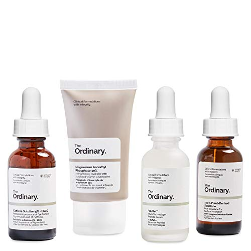 The Ordinary Healthy Skin Set,4pieces rich in vitamins, peptides and amino acids which work to restore hydration, brighten the complexion and smooth fine lines for a noticeably younger-looking effect.