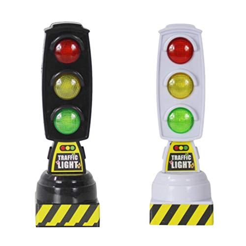 Toyvian Juguete de semáforo de 2 Piezas con Sonido led para niños Regalo Educativo (Negro + Blanco)