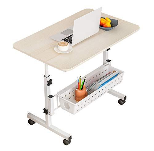 Laptoptisch Höhenverstellbar, Laptopständer, Beistelltisch Bett Beistelltisch Bett, Höhenverstellbarer Computerständer Mit Feststellbaren Rollen (Color : B)