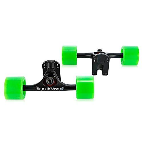2pcs/lot Truck Skateboarding Cruiser Longboard pièces avec roue Riser, Green