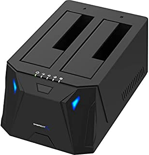 Sabrent USB 3.0 to SATA I/II/III Dual Bay External Hard Drive Docking Station for 2.5 or 3.5in HDD, SSD with Hard Drive Du...