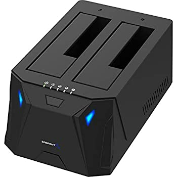 Sabrent USB 3.0 to SATA I/II/III Dual Bay External Hard Drive Docking Station for 2.5 or 3.5in HDD SSD with Hard Drive Duplicator/Cloner Function [10TB Support]  EC-HD2B