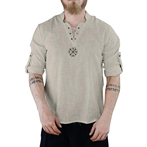 Skews Duck And Cover Mens T-Shirt in White and Cobalt Blue Shawl Neck Casual