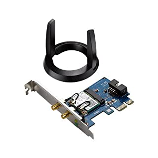 ASUS 802.11ac Wireless-AC1200 Bluetooth 4.0 PCIe/mPCIe Adapter (PCE-AC55BT) (B01FL6SY5A)   Amazon price tracker / tracking, Amazon price history charts, Amazon price watches, Amazon price drop alerts