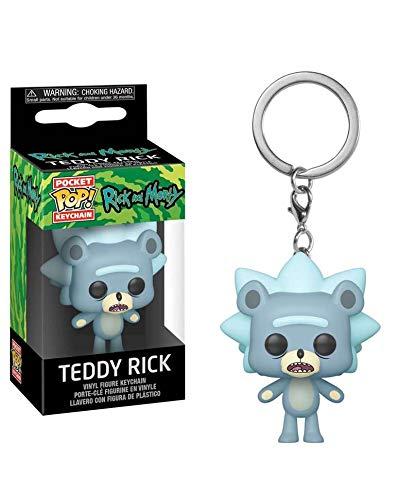 Popsplanet Funko Pop! Keychain – Animation – Rick And Morty Season 4 – Teddy Rick Keychain Vinyl Pocket Figure 4 cm Released 2019