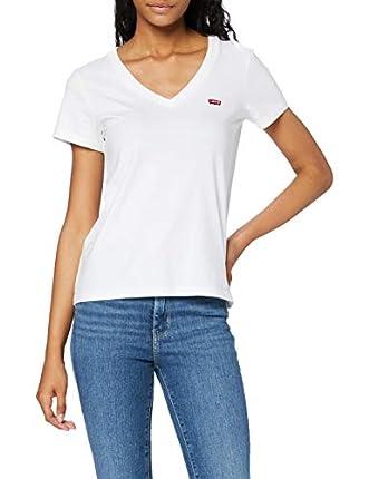 Levi's Vneck Camiseta, White (White + 0002), Small para Mujer