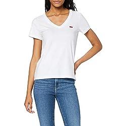 Camiseta blanca básica Levi's con cuello de pico