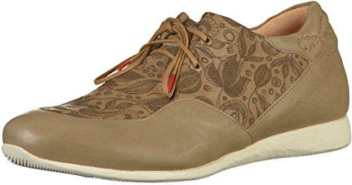Think Raning_282094, Zapatos de Cordones Brogue Mujer, Beige (Macchiato 24), 41.5 EU