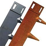 Core Edge Flexible Steel Lawn Eging CorTen 4' Five Pack (16.25' Installed)