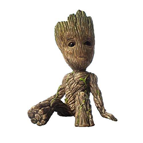 Anime Groot Figura Guardianes de la Galaxia 2 Árbol Hombre Bebé Sentado Ver Colección Juguetes