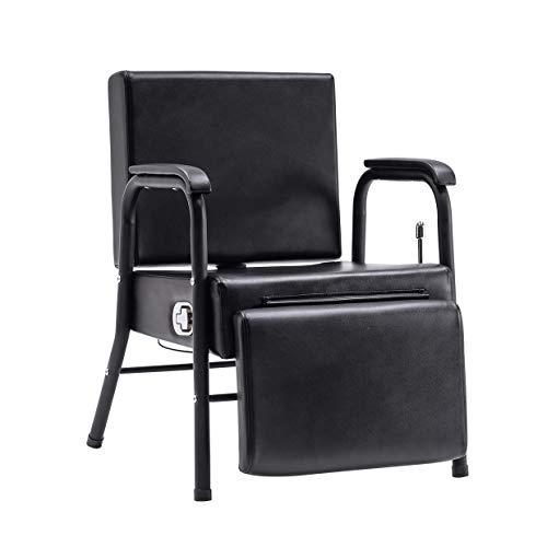 BarberPub Reclining Shampoo Chair Lounge Chair with footrest for Hair Stylist Salon spa Equipment 6154-8145