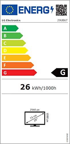 LG 29UB67-B 73,66 cm (29 Zoll) Monitor (HDMI, DVI-D, 2560 x 1080, 5ms Reaktionszeit) schwarz