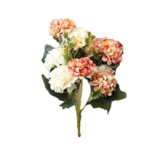 Lot de 2 bouquets de chrysanthèmes artificiels à 10 têtes pour jardin, bureau, table de salle à manger, 30 cm (couleur : 9)