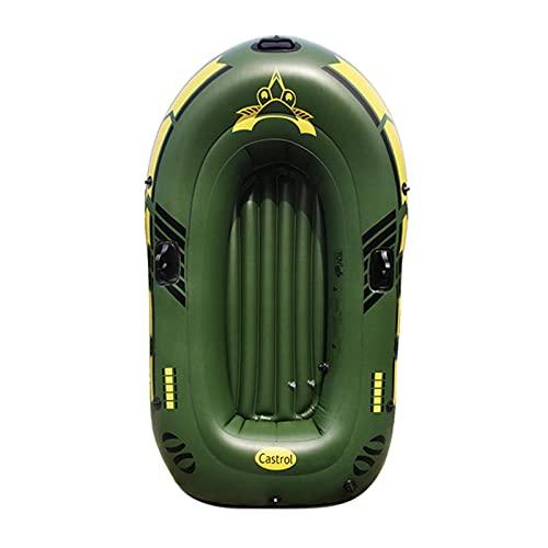 Kayak Rigido, Canoa Inflable para 2 Personas, Bote Inflable, Bote De Remos con Carcasa Exterior Robusta De PVC, Correas para Sujetar Equipaje, Construcción De Barra para Alta Estabilidad En El Agua
