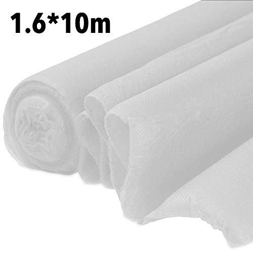 Ardentity - Tessuto antigelo per Piante, Copertura per Piante di Protezione Invernale, Copertura di Protezione per Piante antigelo e antigelo, 1,6 x 5/10/30 m, Bianco, 1.6 * 10M