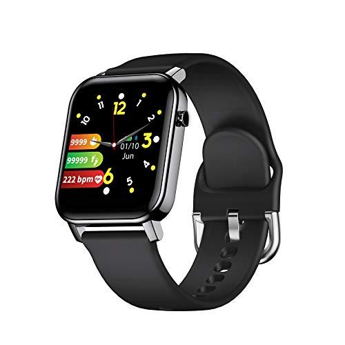 COULAX Smartwatch, Fitness Armbanduhr mit 1.4 Zoll Touch Farbdisplay, Fitness Tracker Sportuhr mit Pulsmesser Schlafmonitor Musiksteuerung Schrittzähler Stoppuhr für Damen Herren