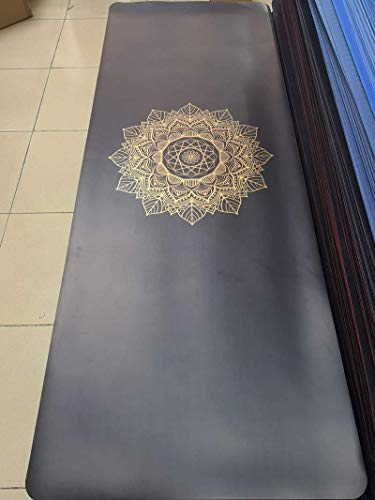 Hot Gold Version Of Natural Rubber yogamat Print Black Gold Earth Mat Brand Same liuchang20