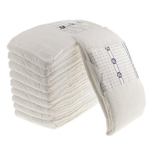 P Prettyia 10 Stück Erwachsenenwindeln, Windeln für Erwachsene, Inkontinenzprodukte - XL