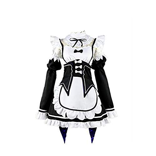 Mitef Cosplay Kostüm Zero Manga Maid Dress Gr. 48, Schwarz